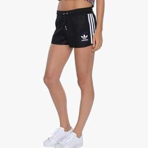 adidas Originals 3 Stripes Shorts | Black | White